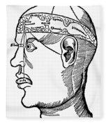 Brain Diagram, 1503 Fleece Blanket