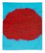 Brain Red Fleece Blanket