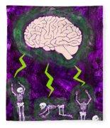 Brain Storm Fleece Blanket