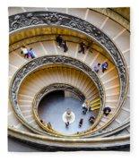 Bramante Spiral Staircase In Vatican City Fleece Blanket