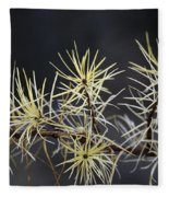 Branch In Winter Fleece Blanket