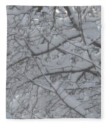 Branched Snow Fleece Blanket