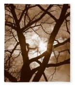 Branches In The Dark 2 Fleece Blanket