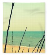 Branches On The Beach Fleece Blanket
