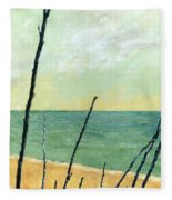 Branches On The Beach - Oil Fleece Blanket