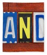 Brandon License Plate Name Sign Fun Kid Room Decor Fleece Blanket