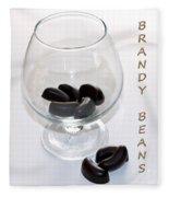 Brandy Beans - Liqueur - Chocolate Fleece Blanket
