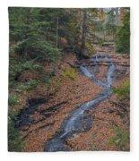 Bridal Vail Falls - Cvnp Fleece Blanket