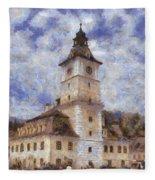 Brasov City Hall Fleece Blanket