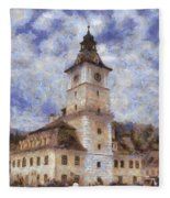 Brasov City Hall Fleece Blanket