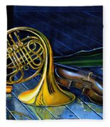 Brass And Strings Fleece Blanket