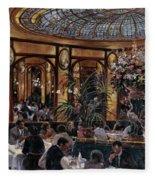 Brasserie Bofinger In The Rue De La Bastille, Paris, 1999 Oil On Canvas Fleece Blanket