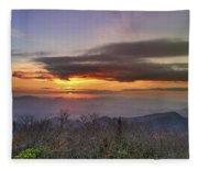 Brasstown Bald At Sunset Fleece Blanket