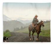 Braving The Rain Fleece Blanket