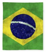 Brazil Flag Fleece Blanket