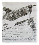 Breaching Orca Fleece Blanket