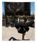 Break Dancer  Columbus Circle Fleece Blanket