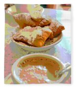 Breakfast Of Champions At Cafe Du Monde Fleece Blanket