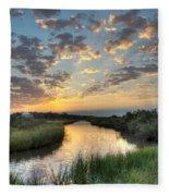 Breaking Dawn Along The Bayou Fleece Blanket