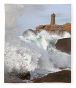 Breaking Of Waves Fleece Blanket