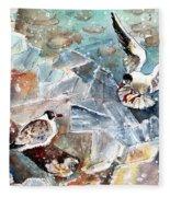 Breaking The Ice On Lake Constance Fleece Blanket