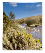 Breamish Valley In Spring Fleece Blanket