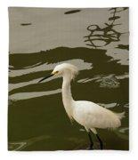 Breeding Egret Fleece Blanket