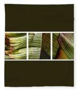 Breeze - Banana Leaf Triptych Fleece Blanket