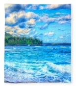 Breezy Hawaii Morning Fleece Blanket