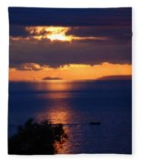 Brela Sunset Croatia Fleece Blanket