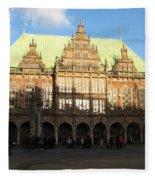 Bremen Town Hall Germany Fleece Blanket