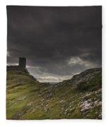Brentor Church Dartmoor Devon Uk Fleece Blanket