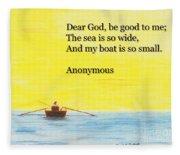 Breton Fisherman's Prayer Fleece Blanket