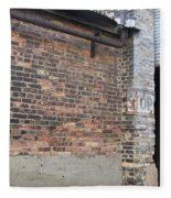 Brick Building Stop Fleece Blanket