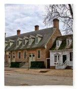 Brick House Tavern In Williamsburg Fleece Blanket