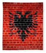 Brick Wall Albania Fleece Blanket