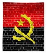 Brick Wall Angola Fleece Blanket