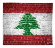 Brick Wall Lebanon Fleece Blanket