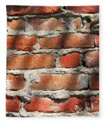 Brick Wall Shadows Fleece Blanket