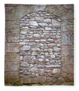 Bricked Up Doorway Fleece Blanket