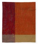 Bricks And Reds Fleece Blanket