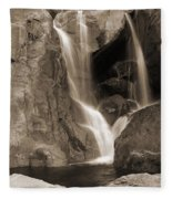 Bridalveil Falls In Yosemite Sepia Version Fleece Blanket