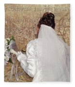 Bride At The Wall Fleece Blanket
