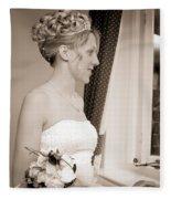 Bride Awaits Her Groom Fleece Blanket
