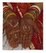 Brides Hands India Fleece Blanket