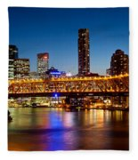 Bridge Across A River, Story Bridge Fleece Blanket