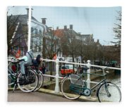 Bridge Across Canal - Amsterdam Fleece Blanket