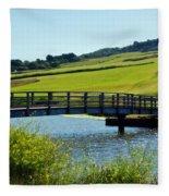 Bridge At Charmouth Fleece Blanket