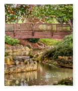 Bridge At Shelton Vineyards Fleece Blanket