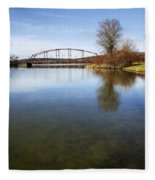Bridge At Upper Lisle Fleece Blanket